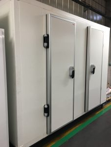 Installation de chambre climatique mobile.