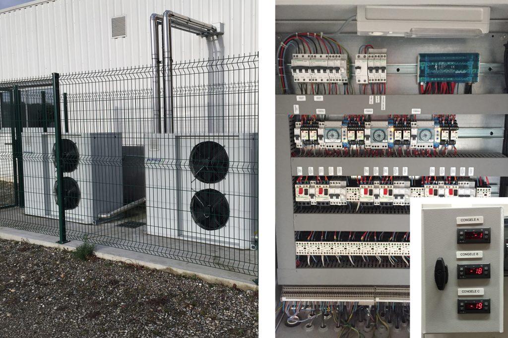 Installation équipement frigorifique industriel à variation de puissance